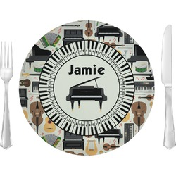 "Musical Instruments 10"" Glass Lunch / Dinner Plates - Single or Set (Personalized)"