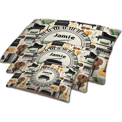 Musical Instruments Dog Bed w/ Name or Text