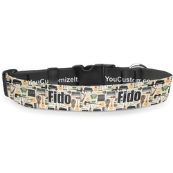 "Musical Instruments Deluxe Dog Collar - Large (13"" to 21"") (Personalized)"
