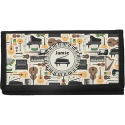 Musical Instruments Canvas Checkbook Cover (Personalized)