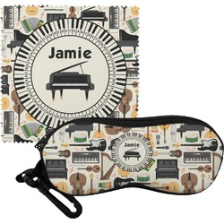 Musical Instruments Eyeglass Case & Cloth (Personalized)