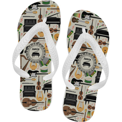 Musical Instruments Flip Flops (Personalized)