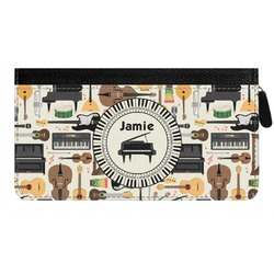 Musical Instruments Genuine Leather Ladies Zippered Wallet (Personalized)