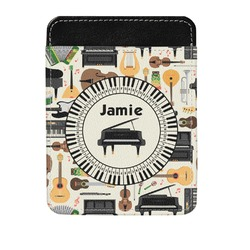 Musical Instruments Genuine Leather Money Clip (Personalized)