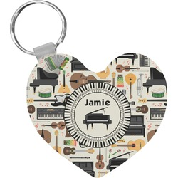 Musical Instruments Heart Keychain (Personalized)