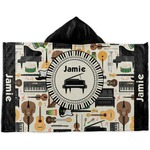 Musical Instruments Kids Hooded Towel (Personalized)