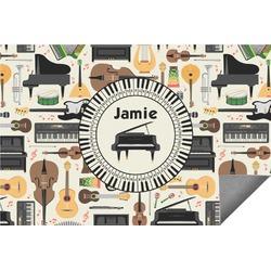 Musical Instruments Indoor / Outdoor Rug (Personalized)