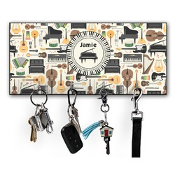 Musical Instruments Key Hanger w/ 4 Hooks (Personalized)