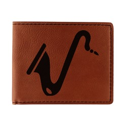 Musical Instruments Leatherette Bifold Wallet (Personalized)