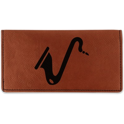 Musical Instruments Leatherette Checkbook Holder (Personalized)
