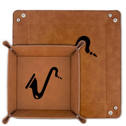 Musical Instruments Faux Leather Valet Tray (Personalized)