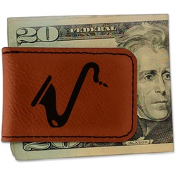 Musical Instruments Leatherette Magnetic Money Clip (Personalized)