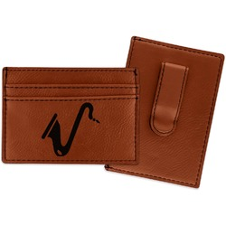 Musical Instruments Leatherette Wallet with Money Clip (Personalized)