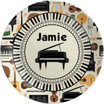 """Musical Instruments Melamine Plate - 8"""" (Personalized)"""