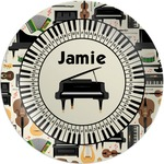 Musical Instruments Melamine Plate (Personalized)