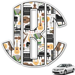 Musical Instruments Monogram Car Decal (Personalized)