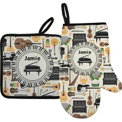 Musical Instruments Oven Mitt & Pot Holder (Personalized)