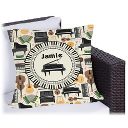 Musical Instruments Outdoor Pillow (Personalized)