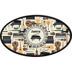 Musical Instruments Oval Trailer Hitch Cover (Personalized)