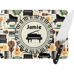 Musical Instruments Rectangular Glass Cutting Board (Personalized)