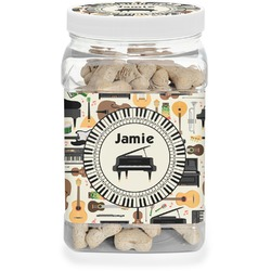 Musical Instruments Pet Treat Jar (Personalized)