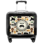 Musical Notes Suitcase 24Medium Checked Personalized