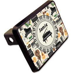 "Musical Instruments Rectangular Trailer Hitch Cover - 2"" (Personalized)"