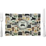 Musical Instruments Glass Rectangular Lunch / Dinner Plate - Single or Set (Personalized)