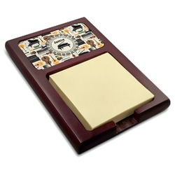 Musical Instruments Red Mahogany Sticky Note Holder (Personalized)