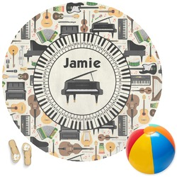 Musical Instruments Round Beach Towel (Personalized)