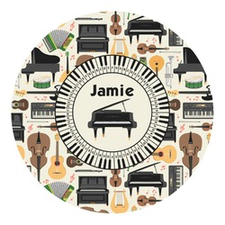 Musical Instruments Round Decal - Custom Size (Personalized)