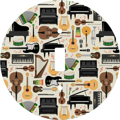 Musical Instruments Round Light Switch Cover (Personalized)