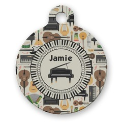 Musical Instruments Round Pet Tag (Personalized)