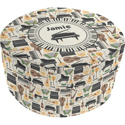 Musical Instruments Round Pouf Ottoman (Personalized)