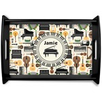Musical Instruments Black Wooden Tray (Personalized)