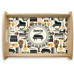 Musical Instruments Natural Wooden Tray (Personalized)