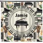 Musical Instruments Shower Curtain (Personalized)