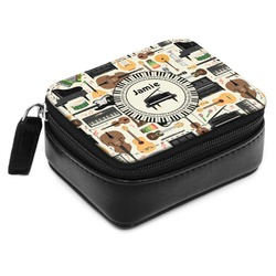 Musical Instruments Small Leatherette Travel Pill Case (Personalized)