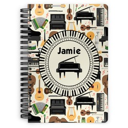 Musical Instruments Spiral Bound Notebook (Personalized)