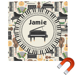 Musical Instruments Square Car Magnet (Personalized)