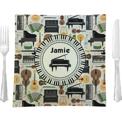 Musical Instruments Square Dinner Plate (Personalized)