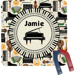 Musical Instruments Square Fridge Magnet (Personalized)