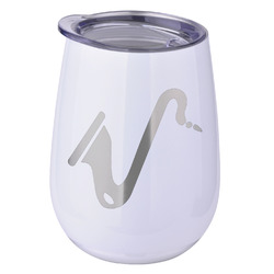 Musical Instruments Stemless Wine Tumbler - 5 Color Choices - Stainless Steel  (Personalized)