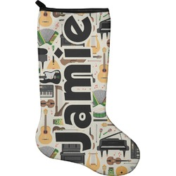 Musical Instruments Holiday Stocking - Single-Sided - Neoprene (Personalized)