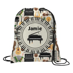 Musical Instruments Drawstring Backpack - Large (Personalized)