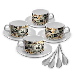 Musical Instruments Tea Cup - Set of 4 (Personalized)
