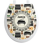 Musical Instruments Toilet Seat Decal (Personalized)