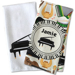 Musical Instruments Waffle Weave Kitchen Towel (Personalized)