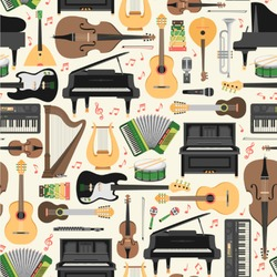 Musical Instruments Wallpaper & Surface Covering