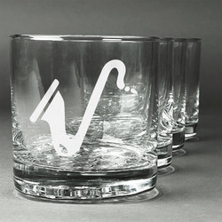 Musical Instruments Whiskey Glasses (Set of 4) (Personalized)